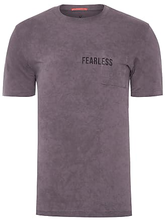 VR T-SHIRT MASCULINA COM BOLSO ESTAMPA FEARLESS - CINZA
