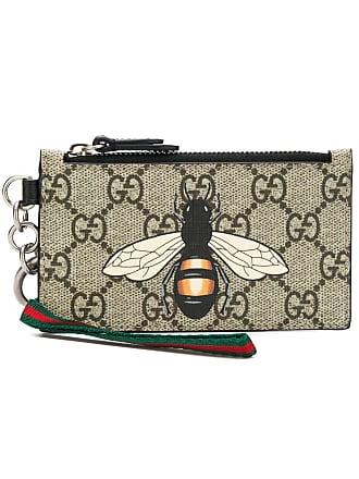 8a2e1e05c0f4 Gucci Bee print GG Supreme pouch - Neutrals
