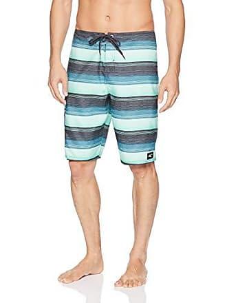 9d0b4662ba O'Neill Mens 21 Inch Outseam Ultrasuede Swim Boardshort, Turquoise/Santa  Cruz Print