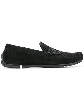 Emporio Armani logo loafers - Black
