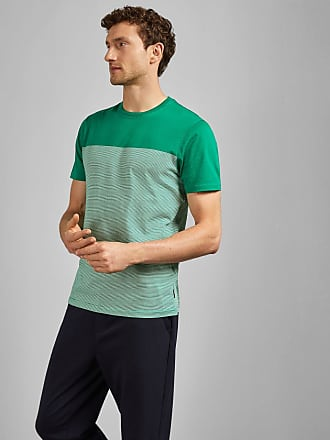Ted Baker Striped Panelled T-shirt in Green GAMIN, Mens Clothing
