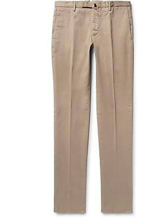 Incotex Four Season Slim-fit Cotton-blend Chinos - Neutral
