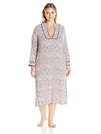 Oscar De La Renta Pink Label Womens Plus Size Animal Print Knit Caftan, Light Pink Ground, 3X