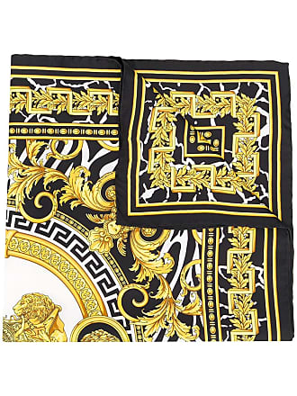 Versace Lenço Medusa com estampa barroca - Preto