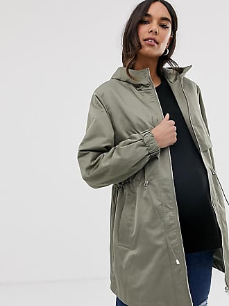 c3baf562b70 Asos Maternity ASOS DESIGN Maternity lightweight parka with jersey lining -  Green