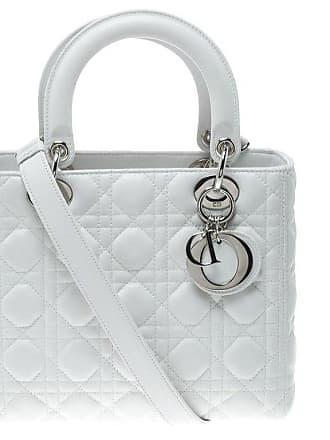 e3e07a5638af Dior Dior White Leather Medium Lady Dior Tote