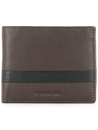 Cerruti stripe detail bifold wallet - Brown