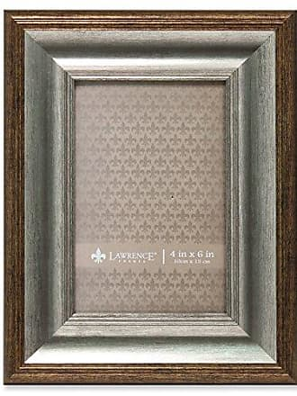 Lawrence Frames Tatum Picture Frame, 4 by 6-Inch, Silver/Gold