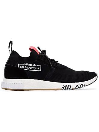 detailed look 19fe8 98c96 adidas black NMD racer primeknit sneakers