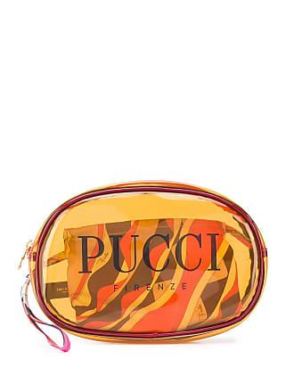 Emilio Pucci Necessaire com logo estampado - Laranja
