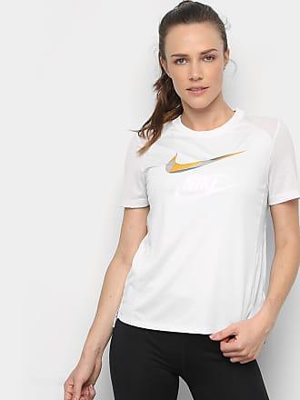 Nike Camiseta Nike Miler Ss Metallic Feminina - Feminino d8100950cd14f