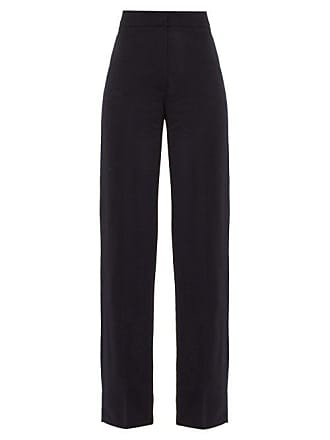 Jacquemus Costume High Rise Wool Trousers - Womens - Navy