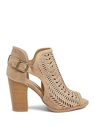 Forever 21 Forever 21 Faux Leather Cutout Booties Taupe