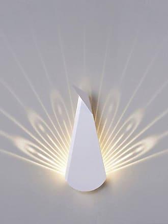 Popup Lighting PEACOCK-Applique LED Paon avec prise H37cm Blanc Popup Lighting - designé par Chen Bikovski
