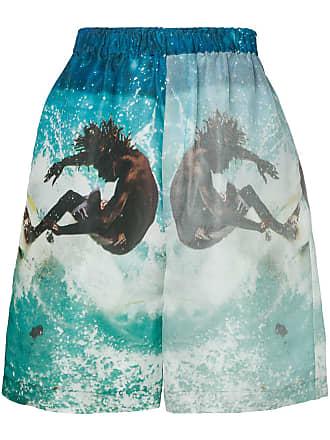 Ex Infinitas surf print shorts - Azul