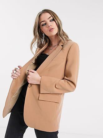 Object oversized blazer in tan-Brown