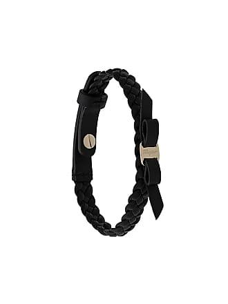 Salvatore Ferragamo Bracelete de couro Vara Bow - Preto