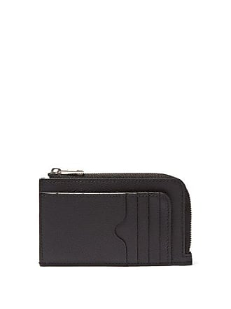 Alexander McQueen Alexander Mcqueen - Grained Leather Cardholder - Mens - Black