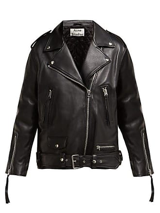 1b4958dbde555 Acne Studios Myrtle Leather Biker Jacket - Womens - Black
