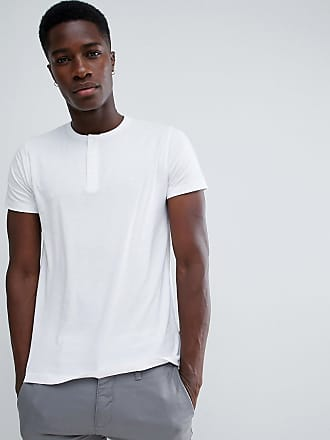 French Connection Camiseta con cuello henley de French Connection-Blanco