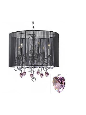 Gallery T40-300 6 Light 1 Tier Crystal Candle Style Chandelier with
