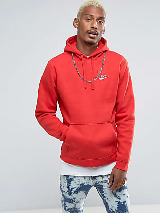 063923e4a58e Nike Club pullover hoodie with swoosh logo in red 804346-657