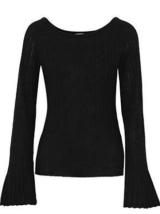 Elie Tahari Elie Tahari Woman Weslyn Ribbed Wool Sweater Black Size S