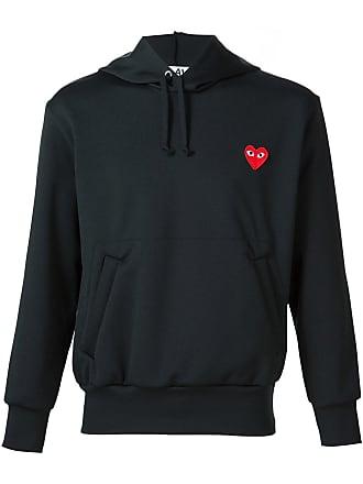 Comme Des Garçons heart appliqué hoodie - Black