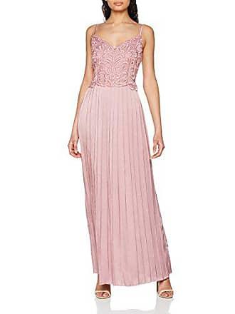 b0c876459 Little Mistress Blush Embroidered Satin Maxi Dress with Pleats