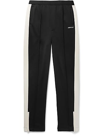 AMBUSH Striped Satin-jersey Track Pants - Black