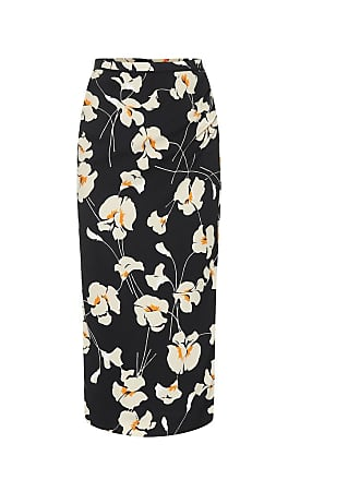 N°21 Printed crêpe pencil skirt