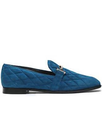 0299cea96c1c5 Tod's Tods Woman Quilted Suede Loafers Cobalt Blue Size 39.5