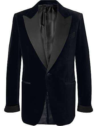 6aabb872297 Tom Ford Black Shelton Slim-fit Faille-trimmed Cotton-velvet Tuxedo Jacket -