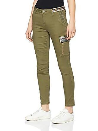 6bd1fefd92c84 Desigual Pant Narcissus, Pantalon Femme, Vert (Kaki 4092), 42