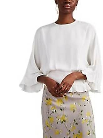 ed9560864cc6d Derek Lam Womens Silk Crêpe De Chine Blouse - White Size 38 IT