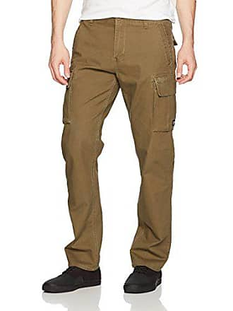Rvca Mens Stay Cargo Pant, Burnt Olive, 28