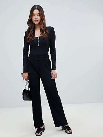 Y.A.S high waisted ribbed pants - Black