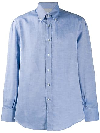 Brunello Cucinelli chambray shirt - Azul