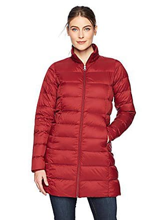 Amazon Essentials Womens Lightweight Water-Resistant Packable Down Coat, Red Rust, X-Small