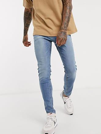 Hollister super skinny fit jeans in bright medium-Blue
