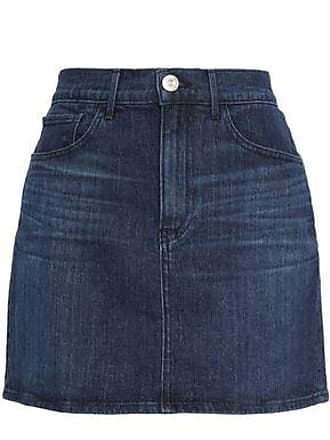3x1 Woman Celine Denim Mini Skirt Dark Denim Size XS