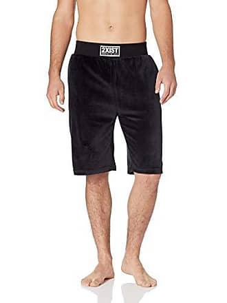 2(x)ist Mens Velour Lounge Short Shorts, Black, Small