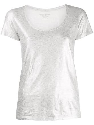 Majestic Filatures Camisa com efeito metálico - Prateado