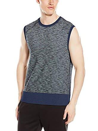 2(x)ist Mens Side-Zip Muscle Sweatshirt, Chambray Heather, Large