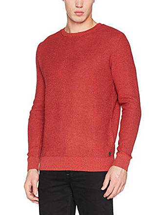 Tom Tailor Modern Basic Crew-Neck Sweater, Pull Homme, Rouge (Coach Red 7a0873383a3d