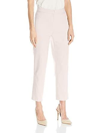 Ruby Rd. Womens Petite Classic Fly Front Double-face Stretch Ankle Pant, Linen White, 4P