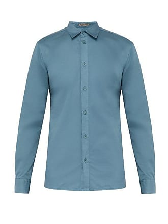 Bottega Veneta Cotton Poplin Shirt - Mens - Light Blue