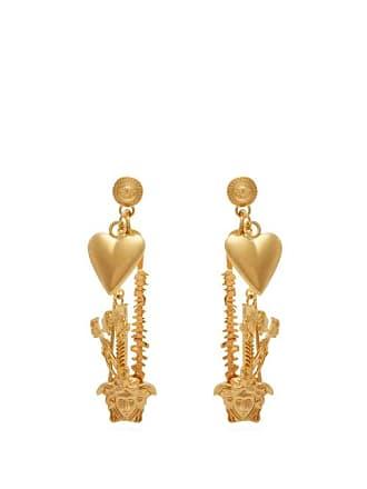 2215a6ec2 Versace Medusa Safety Pin Metal Earrings - Womens - Gold