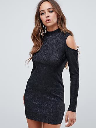 AX PARIS open shoulder bodycon dress - Black
