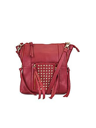 Kooba Eve Studded Leather Crossbody, Scarlet, One Size fe4e94b5ce